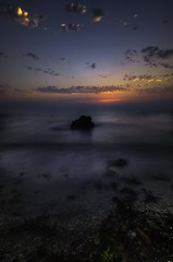 Infinity - Qatar (zai Qtr) Tags: qatar dukhan umbab zaiqtr nikon tokina clouds sunset sea water rock longexposure friday aamir doha sky seascape