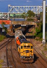 "Westbound Transfer in Kansas City, MO (""Righteous"" Grant G.) Tags: atsf santa fe railroad railway bnsf union pacific west westbound transfer freight kansas city missouri"