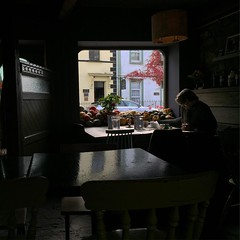 Window Shopper. #ireland #nofilter #galway #cafe
