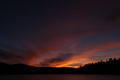 Sunset over Hawley Lake (lars hammar) Tags: sunset hawleylake arizona whitemountains lake
