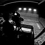 TV camera platform view of Carter-Finley Stadium during a 1983 game against East Carolina. (© Roger Winstead)