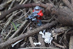 Space Ork in the Forest Wasteland (emperor.willmot) Tags: minifigures lego photography ork chainsword warhammer