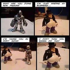 Cyborg gets caught slippin' (stanbstanb) Tags: lomics comics business cyborg minding slippin taking