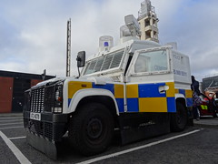 PSNI Penman Engineering Armored Land Rover SUV MK4, Donegal Pass/Bankmore St, October 2016 (nathanlawrence785) Tags: psni police service northern ireland ni land rover pangolin ovik penman engineering ruc tangi alr mk4 belfast bankmore street donegal pass patrol tsg tactical support group riot van meat wagon antrim steeple parkhall camp barracks base cctv camera unit the troubles