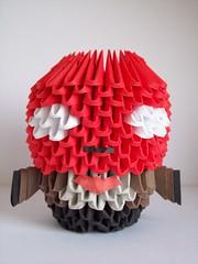 Red Hood (lesandxf) Tags: dc comics dccomics batman comic origami 3dorigami handmade crafts papercrafts handmadecrafts