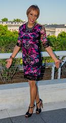 What A View! (kaceycd) Tags: crossdress tg tgirl lycra spandex stretch seethru seethrough lace minidress pantyhose pumps tstrappumps peeptoepumps opentoepumps highheels stilettopumps platformpumps stilettoheels sexypumps stilettos s