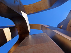 Metallic blue - Bleu metallique (GCau) Tags: gecau france provence marseille sky blue abstract sculpture art aun metallic metallique