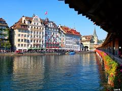Lucerne (Len K.) Tags: lucerne lake city explore travel urban promenade switzerland luzern schweiz suisse