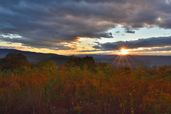 Watching Sunset on the mountain (CU TEO MD) Tags: clouds sunset simplysuperb artofimages ngc twop soe mountain trees skylinedrive fall naturebynikon nikon d750