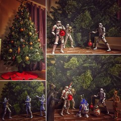 star wars christmas tree assembly with my boys (cinos) Tags: secretlifeoftoys toystories thesecretlifeoftoys myfototoys christmastree actionfigure clonetrooper r2d2 bb8 c3po darthvader stormtrooper bandai modelkit starwars instagramapp square squareformat iphoneography