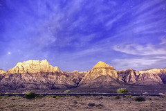 Night in Red Rock Canyon (Joel Quimpo) Tags: red rock canyon las vegas nightphotography cirrus clouds lightpollution