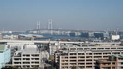 (kasa51) Tags: cityscape port harbor bridge yokohama japan   nikkorsauto50mmf14 infrastructure