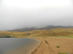 Low Cloud, Loch Assynt, Sutherland, Nov 2016 (allanmaciver) Tags: ardvreck beach coast loch assynt sutherland low cloud rain mist air atmosphere curve waterfall allanmaciver