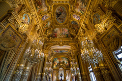Grand Foyer [Explored 31.11.2016] (Enrique EKOGA) Tags: design old paris france palaisgarnier operagarnier garnier gold art lustres windows light paint ceiling nikon d800e 16mm ultrawideangle travel architecture golden chandeliers