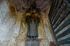 """Vishnu @ Kurathiarai Rock-cut Cave -Nagercoil -Kanyakumari District (Kalai """"N"""" Koyil) Tags: nikon d 5200 tokina 1116mm 2016 vishnu kurathiarai rockcut cavetemple tamilnadu nagercoil kanyakumari district kadukarai southindiantemple architecture kalai n koyil"""