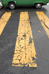 (breakbeatbilly) Tags: crosswalk volkswagen van abstract sanfrancisco missiondistrict