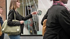 There...right there...is the point (gerhardkörsgen) Tags: frauen women show point streetphotography gerhardkoersgen belgium shopping antwerp 2016 decisivemoment candid colour