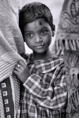 Portraits from Bengal (pallab seth) Tags: portrait india bengal face expression emotion blackandwhite child kid girl tribal eyes