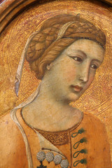 Attributed to Pietro Lorenzetti - Saint Margaret or Agatha--Detail--1320 - 1329 (jbuddenh) Tags: art detail pietrolorenzetti agatha saintmargaret 1325