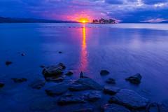 sunset 0748 (junjiaoyama) Tags: japan sunset sky light sun sunshine cloud weather landscape blue purple contrast colour bright lake island water nature fall autumn