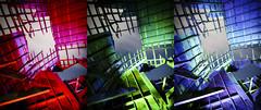 RGB Timbers Triptych III (Notley) Tags: rural missouri notley notleyhawkins 10thavenue httpwwwnotleyhawkinscom missouriphotography notleyhawkinsphotography lightpainting bluelight greenlight blue green night nocturne   lichtmalerei pinturadeluz     abandoned sky longexposure november ruralphotography salinecountymissouri fall 2016 barn farm timbers triptych trio triad
