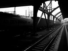 Van den Bosch (mkk707) Tags: fujifilm fujifilmfinepixf31fd finepix blackwhite pointshoot superccd train darmstadt