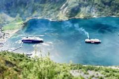 Geirangerfjorden, Norway (incommunicadoo) Tags: norwegen norway flickr geirangerfjord cruiseships kreuzfahrtschiff miniatur geirangerfjorden geiranger