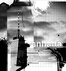 Black and white abstract typography (igorRand) Tags: black white typography graphic dark destroy abstract design build text photo line lines sky blur effect edit glitch melt draw photoshop artist art light flash helvetica error non darknes number composition break