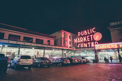 While Seattle Was Asleep (seango) Tags: usa pnw pacificnorthwest pacific northwest nikon d600 seango travel photography travels tourism getaway trip vacation 2016 october seattle washington wa pikeplacemarket pikemarket pike public market center neon lights 20mm wide angle f18 prime lens