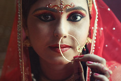 Bride in Red (5,000+ Views!) (Russell John) Tags: red bride weddding eyes girl lady woman makeup makeover gazipur bangladesh 450d 50mm russelljohn explored
