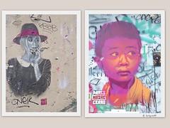 Graff in Paris - Guaté Mao (brigraff) Tags: streetart collage pastedpaper pasteup wheatpast paris guatémao guaté mao brigraff