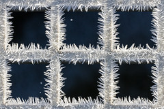 Frosty Grid ([-ChristiaN-]) Tags: eis ice frost frosty grid gitter window fenster eisig eiskristall snow cold abstract abstrakt detail close square metal frame framed rahmen crystal