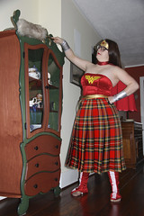 335/366 Scottish Wonder Woman Does the Housework (ruthlesscrab) Tags: wah werehere hereios 366the2016edition 3662016 day335366 30nov16 kilt wonderwoman housework