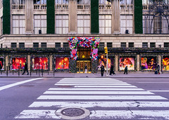 Just cross the street and wonderland awaits (RomanK Photography) Tags: holidays manhattan nyc newyorkcity streetphotography streettogs decorations people sonyalpha