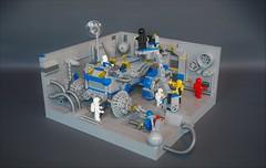 Classic space ATV-tank repair (2) (adde51) Tags: adde51 lego moc classic space classicspace repair hangar bay atv tank