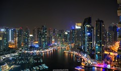 Marina at night (jansolanellas) Tags: dubay marina yacht club night low light photography lights long expo exposure nikon nikond300s nikonian d300s dslr skyscraper skyline buildings