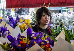 Flower Seller - Seattle (Bobinstow2010) Tags: seattle canada colour girl market flowerseller