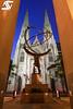 Atlas & Saint Patrick's Cathedral (A.G. Photographe) Tags: nyc usa ny newyork sunrise us nikon manhattan unitedstatesofamerica cathédrale ag atlas bluehour rockefeller église anto leelawrie saintpatrick xiii 2470 d810 antoxiii agphotographe
