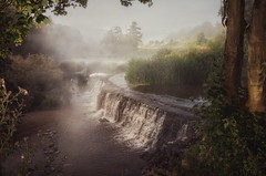 Moody misty morning (Nige H (Thanks for 25m views)) Tags: england nature beautiful misty river landscape moody peaceful tranquil weir riveravon claverton warleighweir