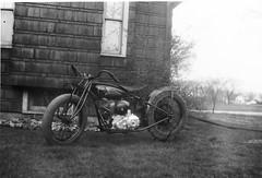 Indian Hill Climb Motorcycle, Harland Krause (hondagl1800) Tags: blackandwhite outdoor motorcycle vintagemotorcycle indianmotorcycle motorcyclehillclimb harlandkrause