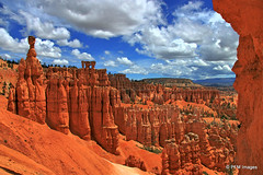 Bryce Canyon (pandt) Tags: park red sky orange usa cloud nature beautiful beauty clouds landscape utah sandstone outdoor canyon national bryce hdr