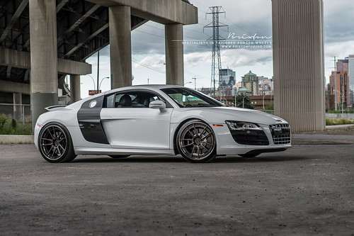 "Audi R8 V10 on 20"" Brixton Forged M53 Targa Series forged wheels"