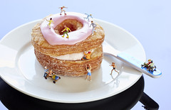Cronut appreciation day (adampop) Tags: pink scale miniatures pastry ho cronut