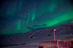 The sky is a blaze of colors (BMartinPR1) Tags: winter light snow cold norway dark stars sony north svalbard northern spitsbergen auroraborealis a77 longyearbyen nordlys northernlight sonyalpha sonya77 sonyalpha77