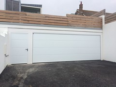 Huge 6m Hormann L Ribbed with matching side door in Rottingdean