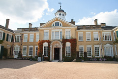 Polesden Lacey 5737 (Thorbard) Tags: blue summer sky building architecture clouds courtyard surrey clocktower statelyhome nationaltrust manorhouse countryhouse polesdenlacey englanduk canonefs1585mmf3556isusm summer2015