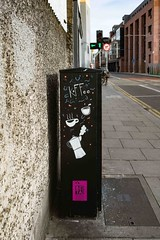 COFFEE CUP CATS [TRAFFIC BOX TSB9M STREET ART 79 CHANCERY STREET]-110161