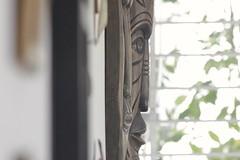 le masque d'afrique (luandacalado) Tags: nature garden casa artesanato dia pernambuco terraza artesanía masque olinda nordeste jardín africaine