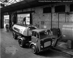 Fill 'er up! Diesel arrives at Manchester Queens Road bus garage (Museum of Transport Greater Manchester archive) Tags: bus buses museum truck manchester diesel garage transport beaver lorry delivery depot qs esso tanker fuel refuel leyland queensroad refuelling cheetham 4379 museumoftransport cheethamhill boylestreet queensrd gmts greatermanchestertransportsociety gmtscollection m88uw wwwgmtscouk yxc787