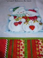 casal bonecos de neve (romelia.artesanatos) Tags: de boneco neve pintura tecido
